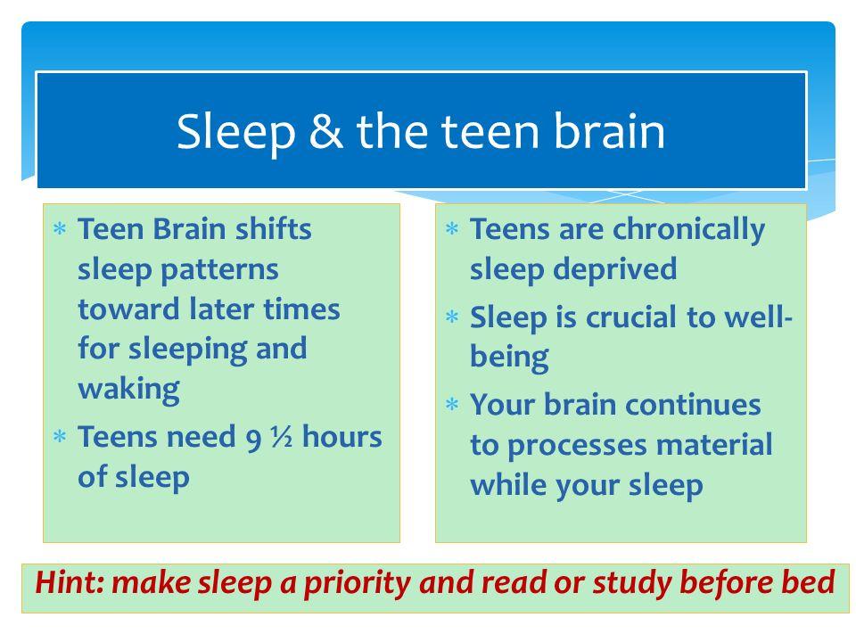teen sleep why is your teen