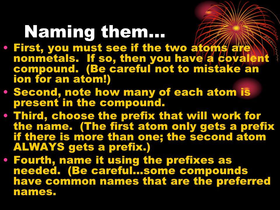 Naming them…