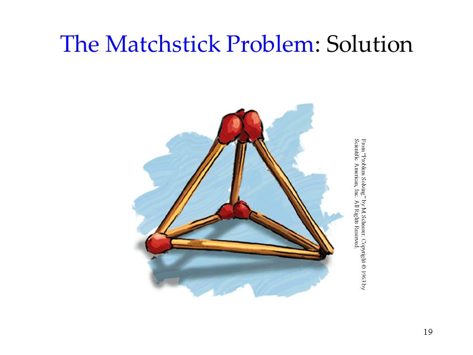 The Matchstick Problem: Solution