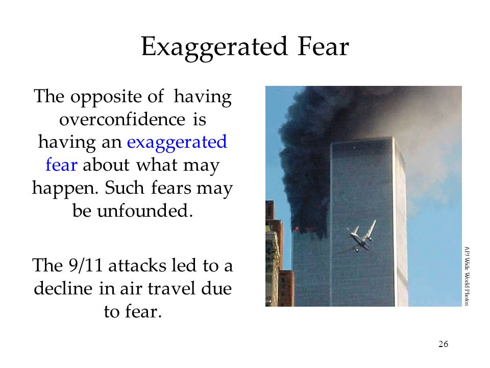 The 9/11 attacks led to a decline in air travel due to fear.