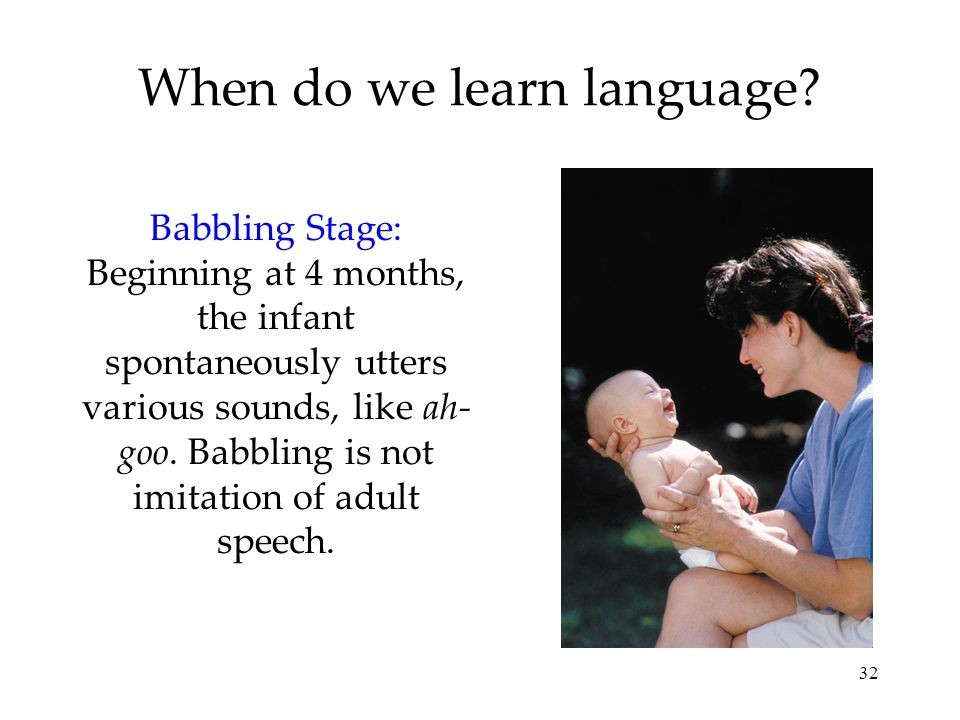 When do we learn language