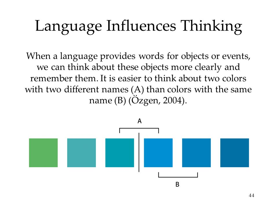 Language Influences Thinking