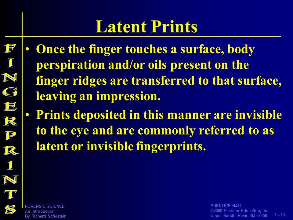 Latent Prints FINGERPRINTS