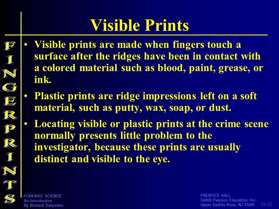 Visible Prints FINGERPRINTS