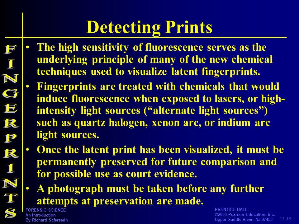 Detecting Prints FINGERPRINTS