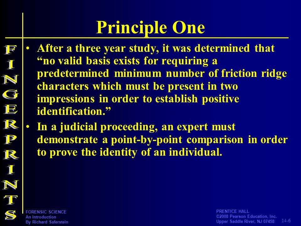 Principle One FINGERPRINTS