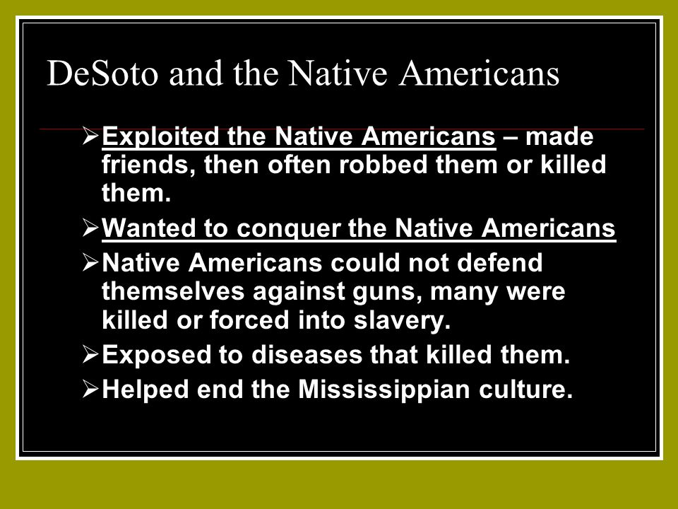 DeSoto and the Native Americans