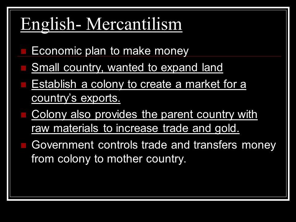 English- Mercantilism