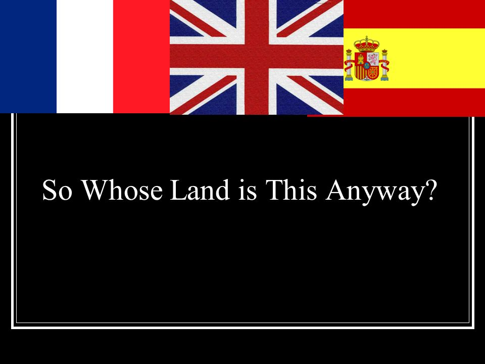 So Whose Land is This Anyway