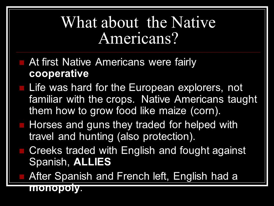 What about the Native Americans