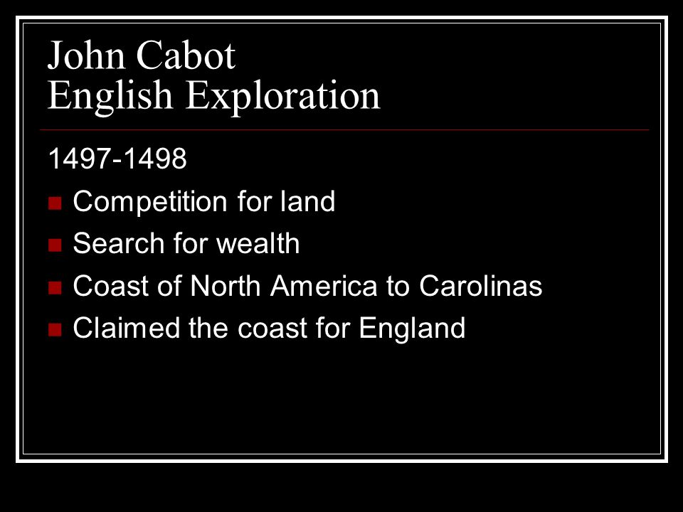 John Cabot English Exploration