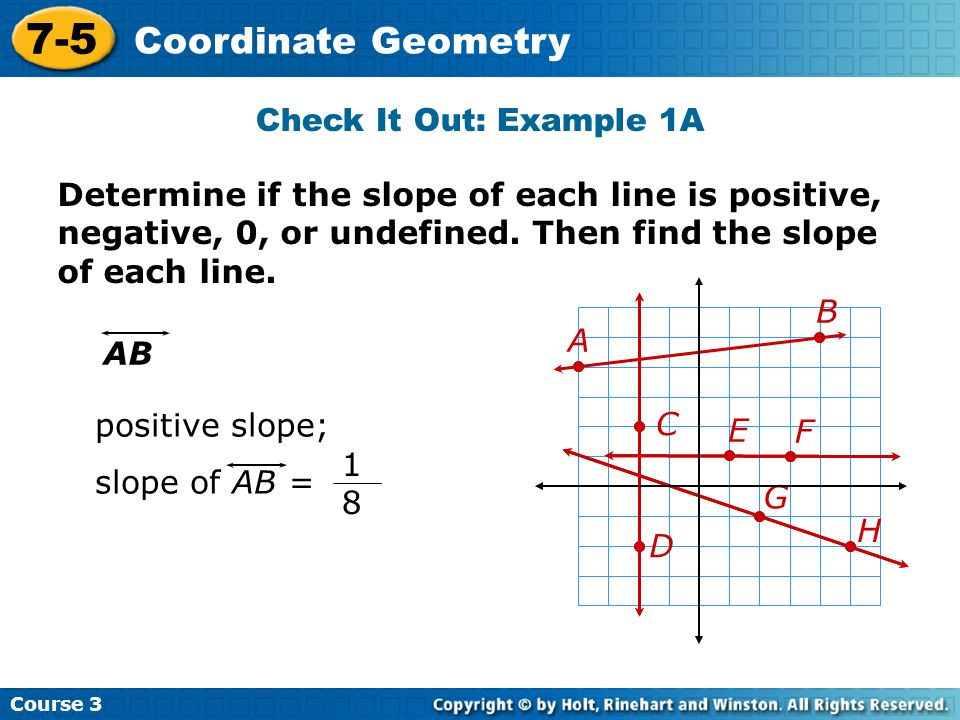 7-5 Coordinate Geometry Check It Out: Example 1A