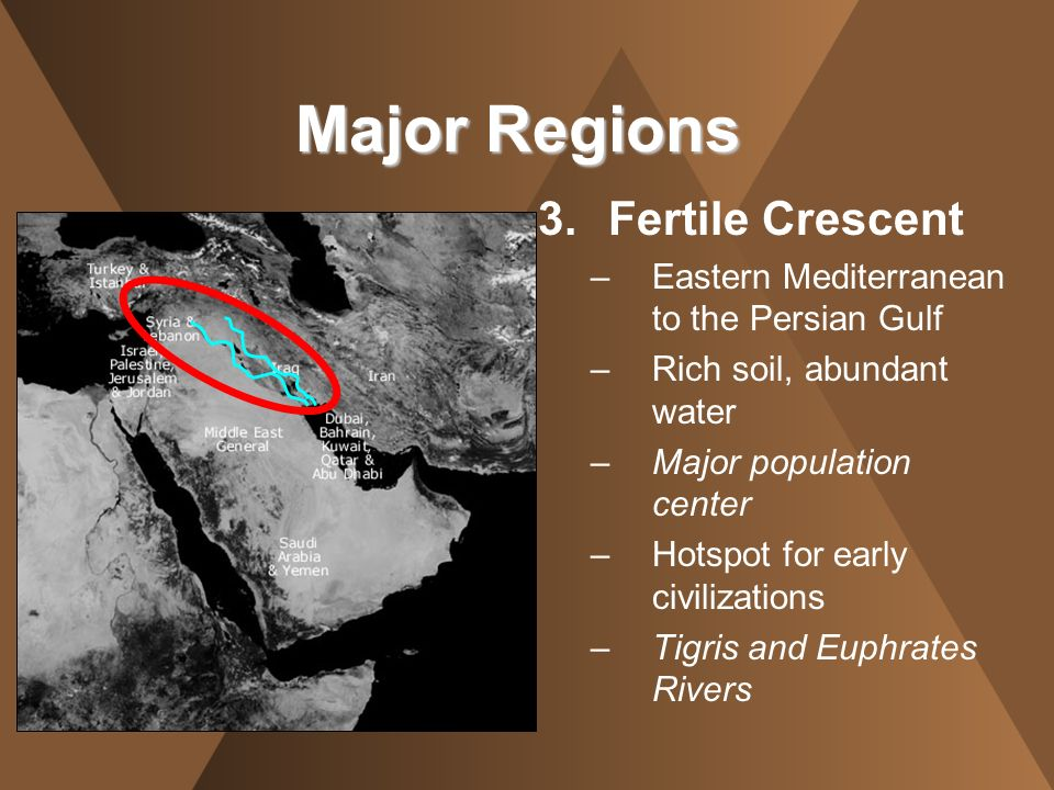 Major Regions Fertile Crescent