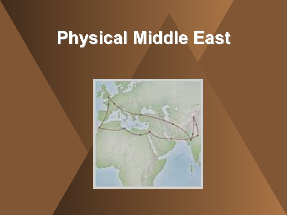 Physical Middle East