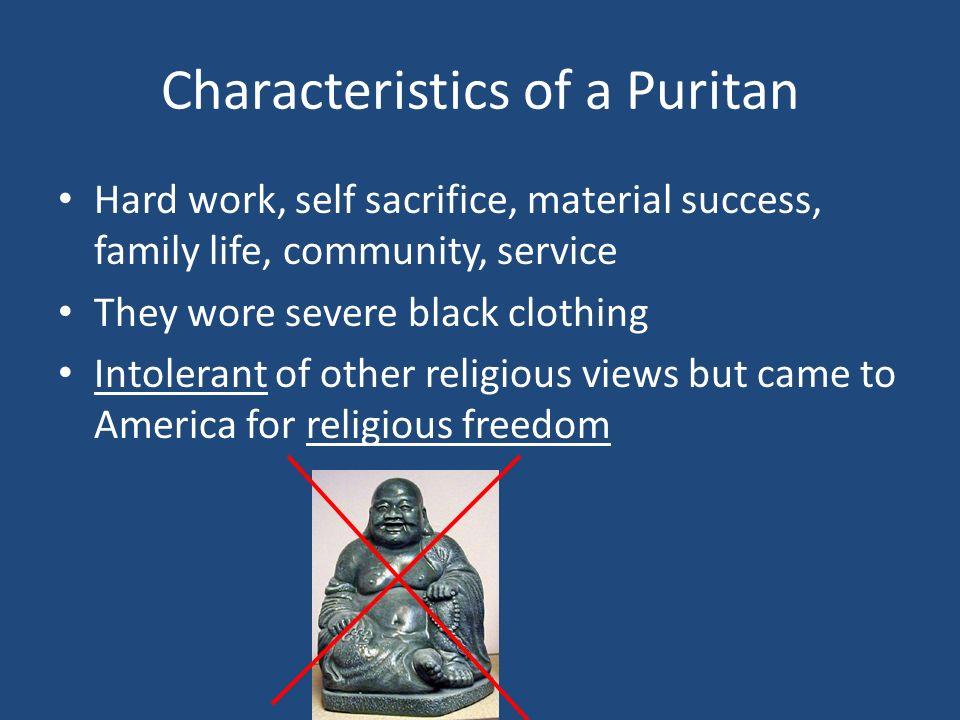 Characteristics of a Puritan
