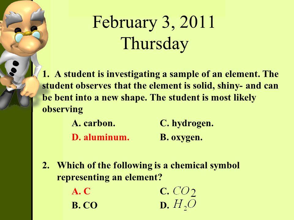 February 3, 2011 Thursday