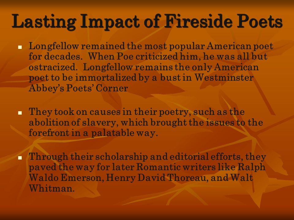 Lasting Impact of Fireside Poets