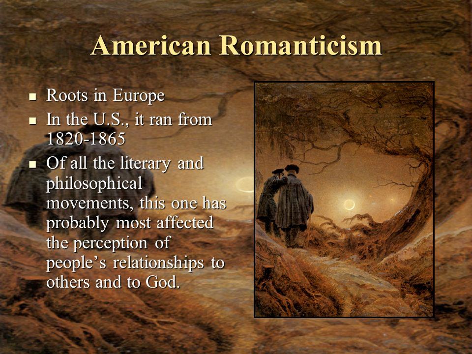 American Romanticism Roots in Europe
