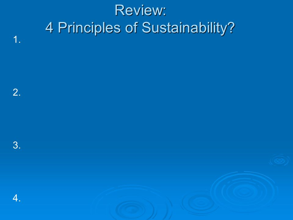 Review: 4 Principles of Sustainability
