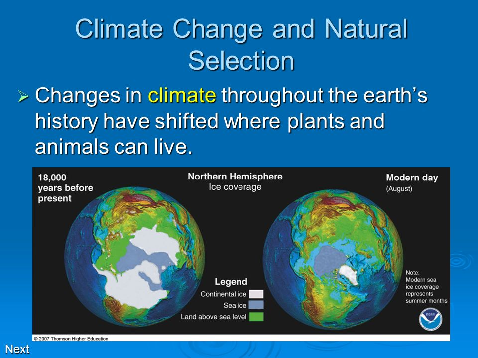 Climate Change and Natural Selection