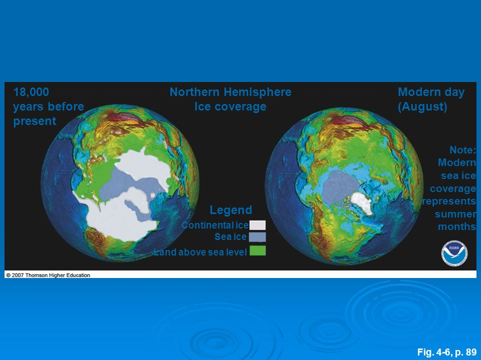 Northern Hemisphere Ice coverage