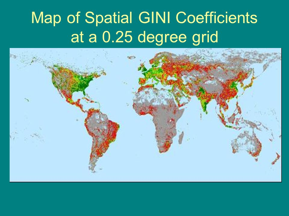 13 map of spatial gini coefficients at a 0 25 degree grid