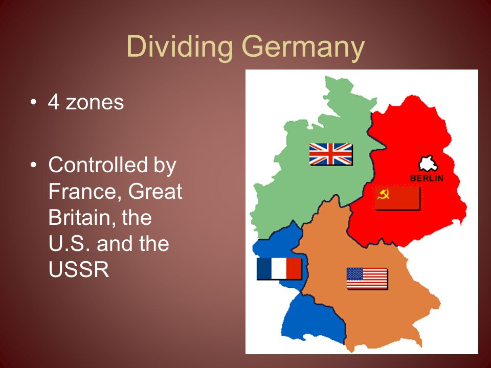 Dividing Germany 4 zones