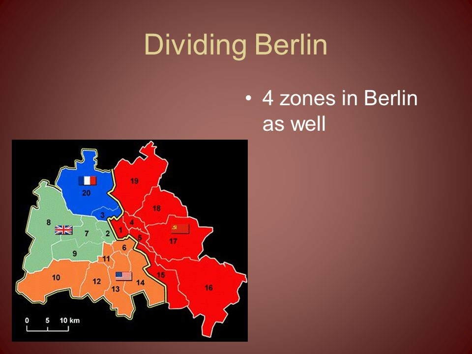 Dividing Berlin 4 zones in Berlin as well