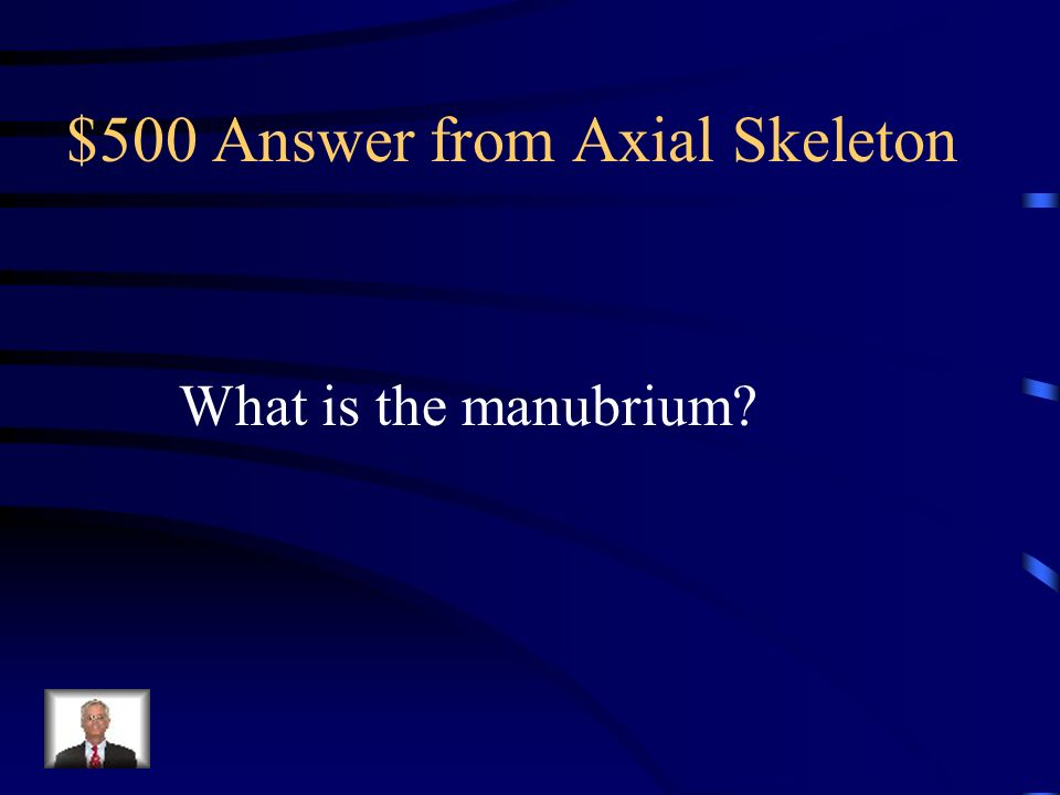 $500 Answer from Axial Skeleton