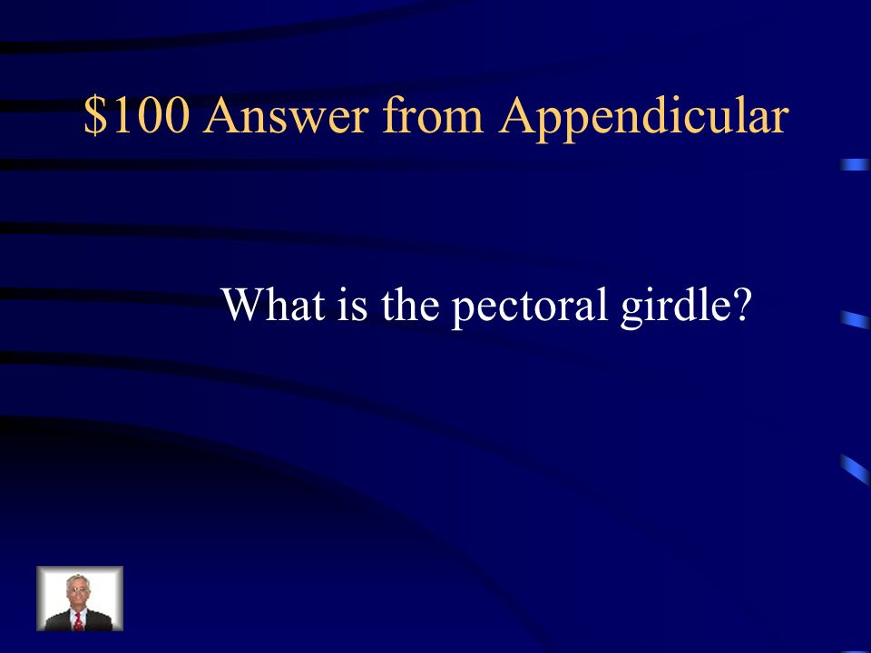 $100 Answer from Appendicular