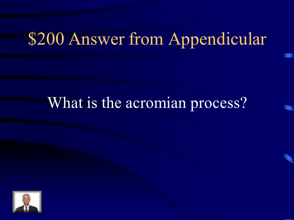 $200 Answer from Appendicular