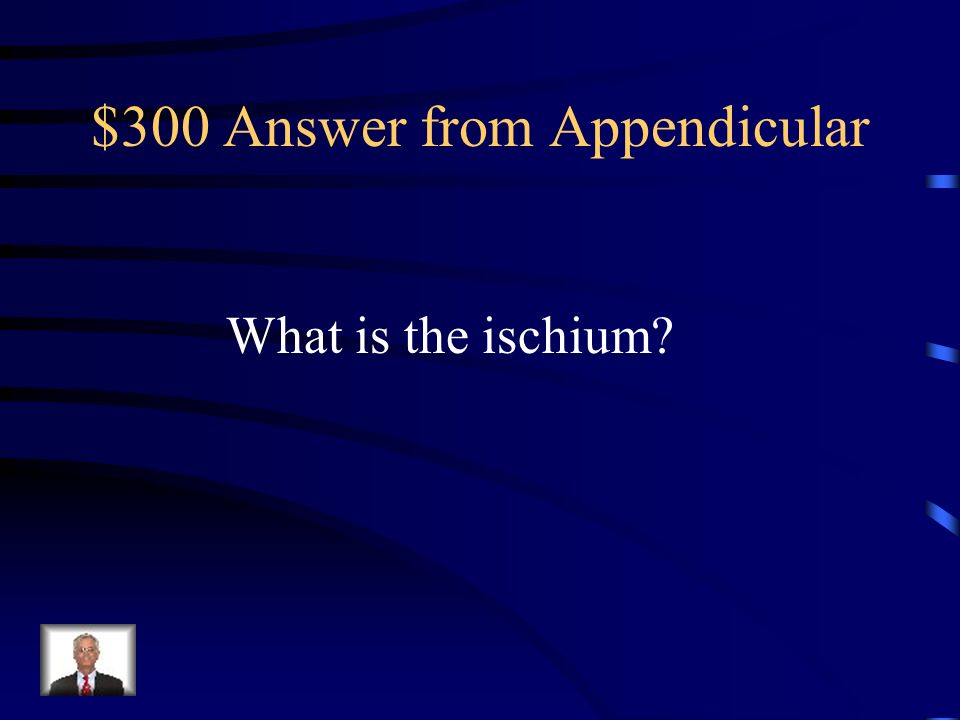 $300 Answer from Appendicular
