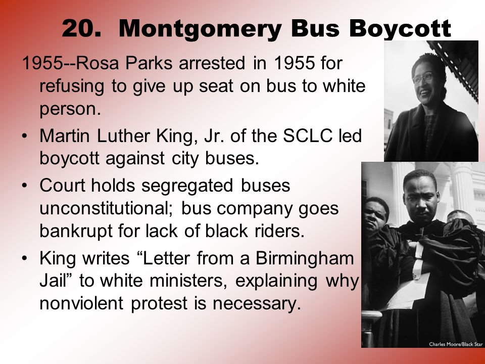 20. Montgomery Bus Boycott