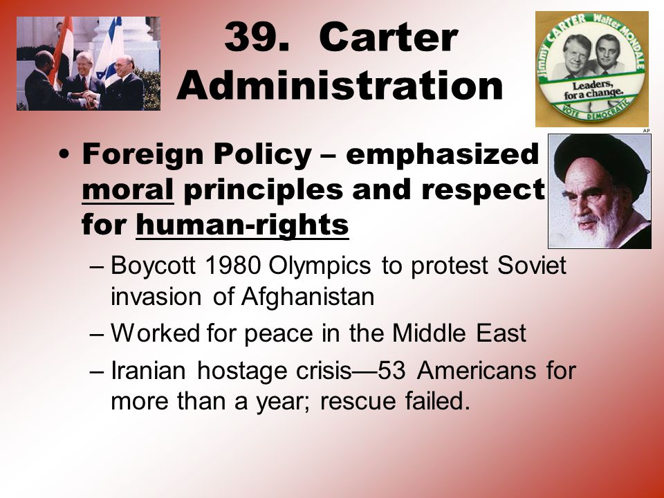 39. Carter Administration
