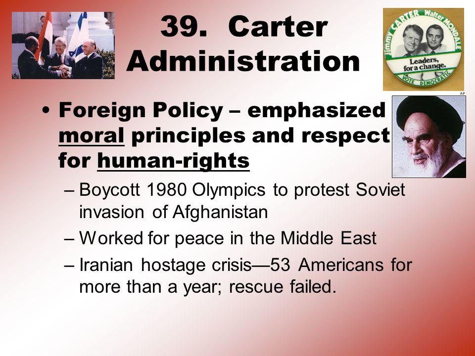 39. Carter Administration