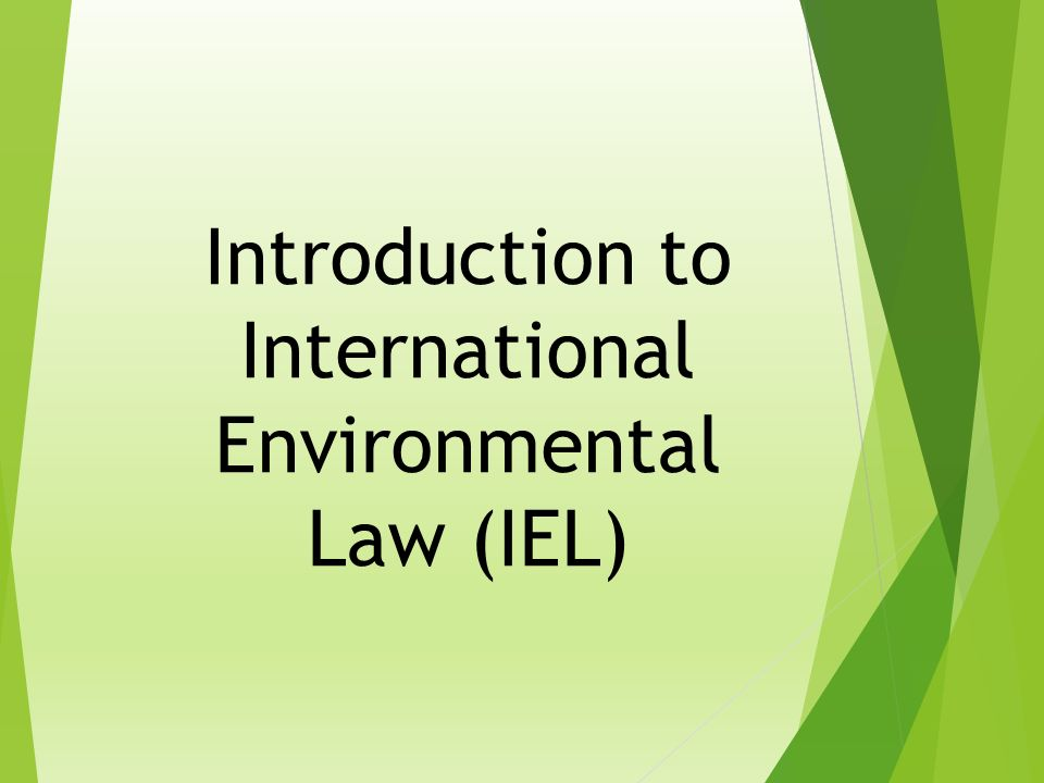 introduction to international environmental law This contribution illustrates the development of the environmental law of the eu from an international environmental law perspective it highlights the external and internal dimensions of eu environmental law and their interaction it also outlines the role of the eu institutions in the development.