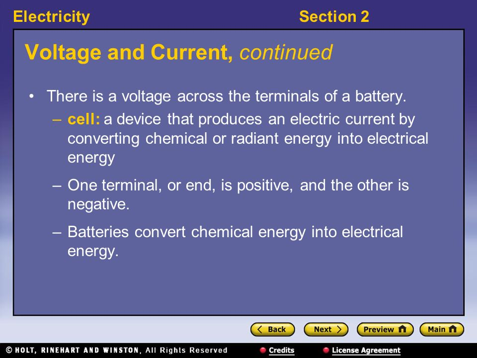 Voltage and Current, continued