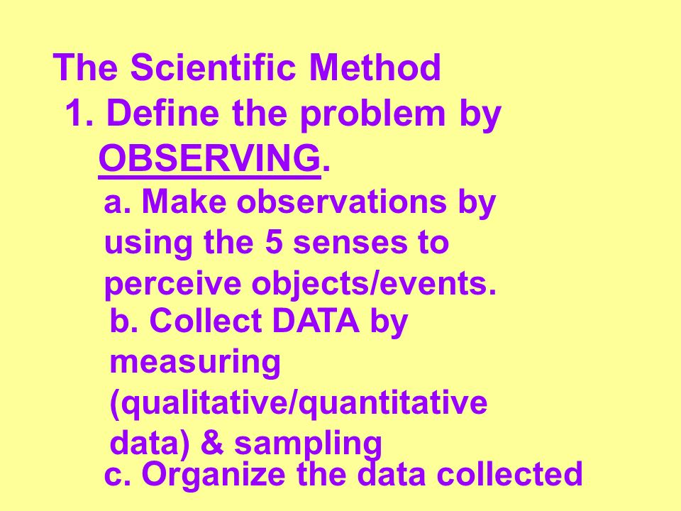 1. Define the problem by OBSERVING. - ppt download
