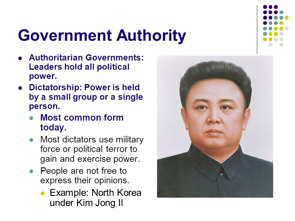 7. 4. Spi. 1. Define the different types of governments (i. E.
