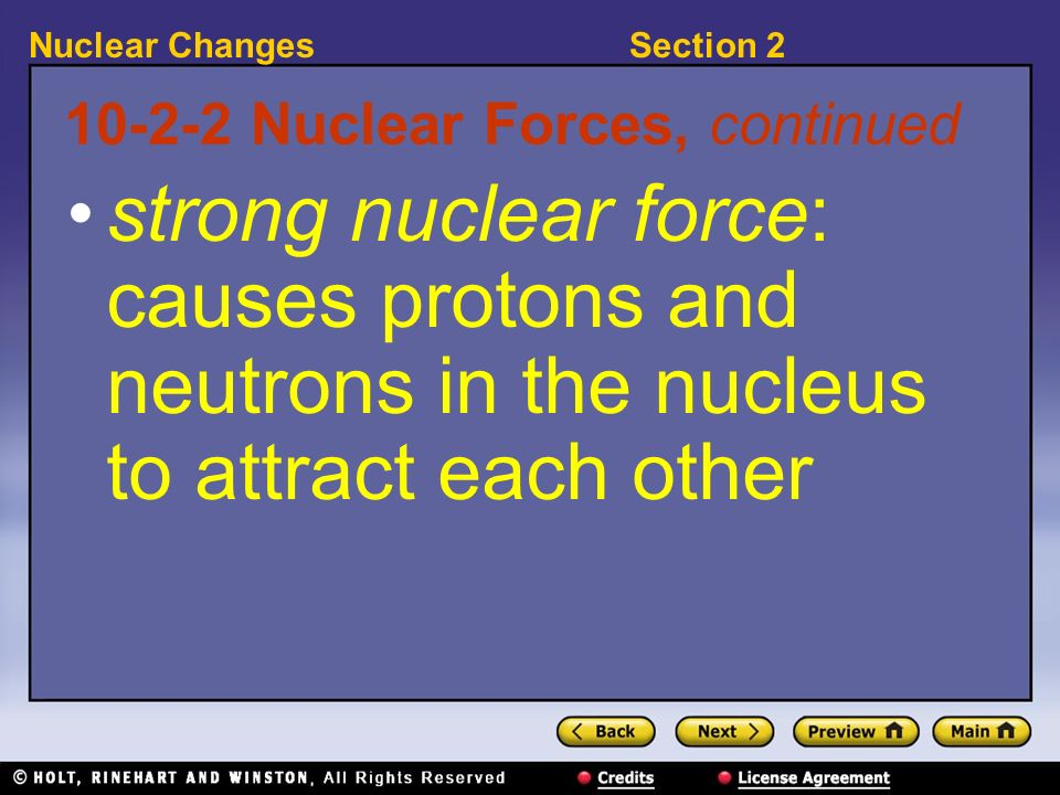10-2-2 Nuclear Forces, continued