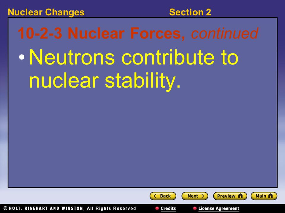 10-2-3 Nuclear Forces, continued