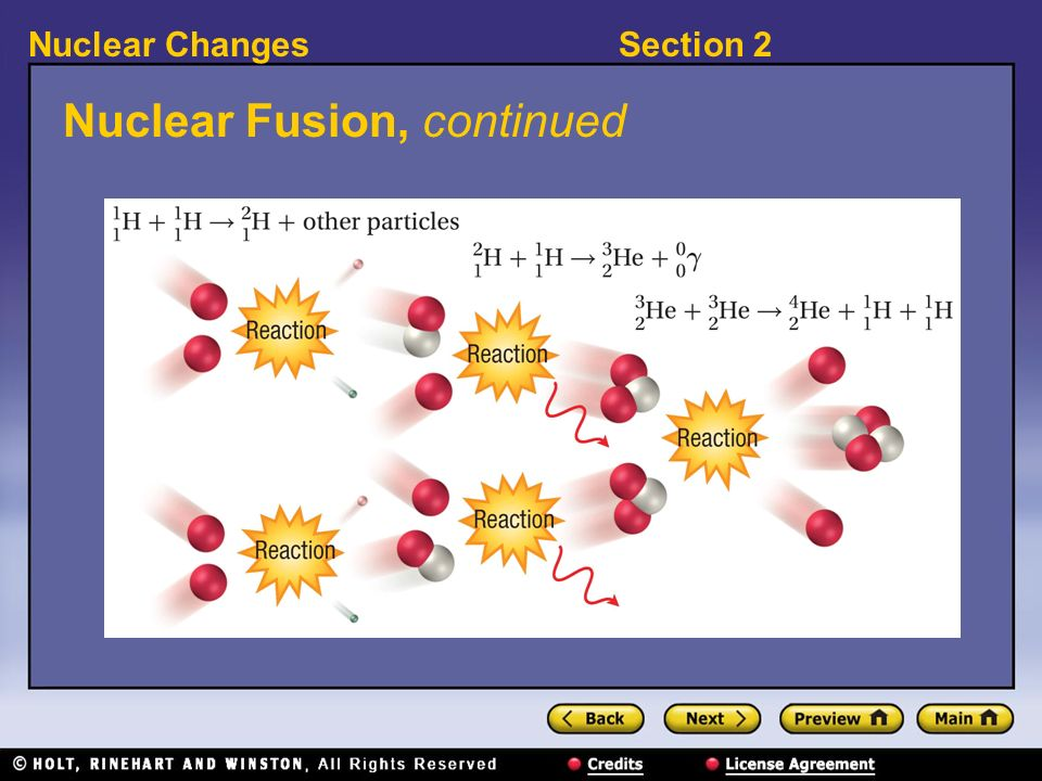 Nuclear Fusion, continued