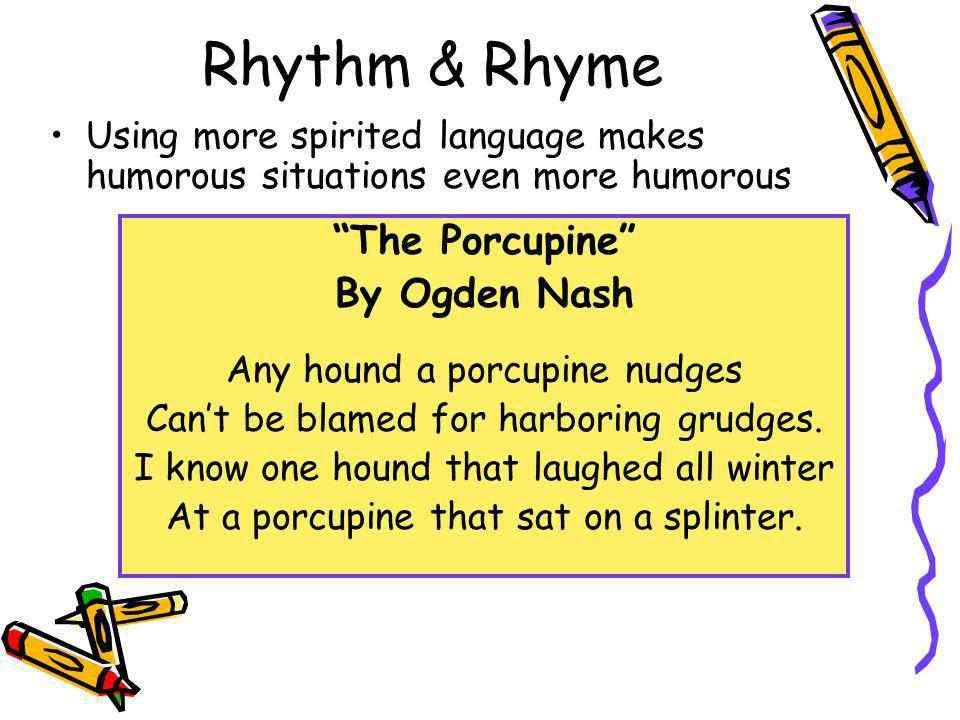 Rhythm & Rhyme The Porcupine By Ogden Nash