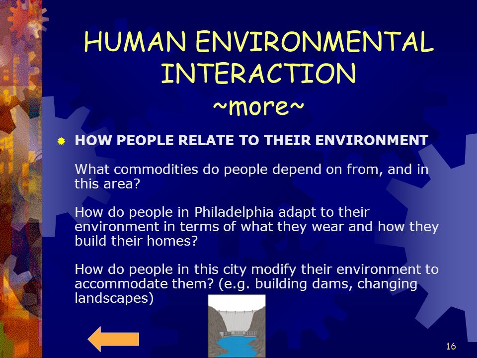 HUMAN ENVIRONMENTAL INTERACTION ~more~