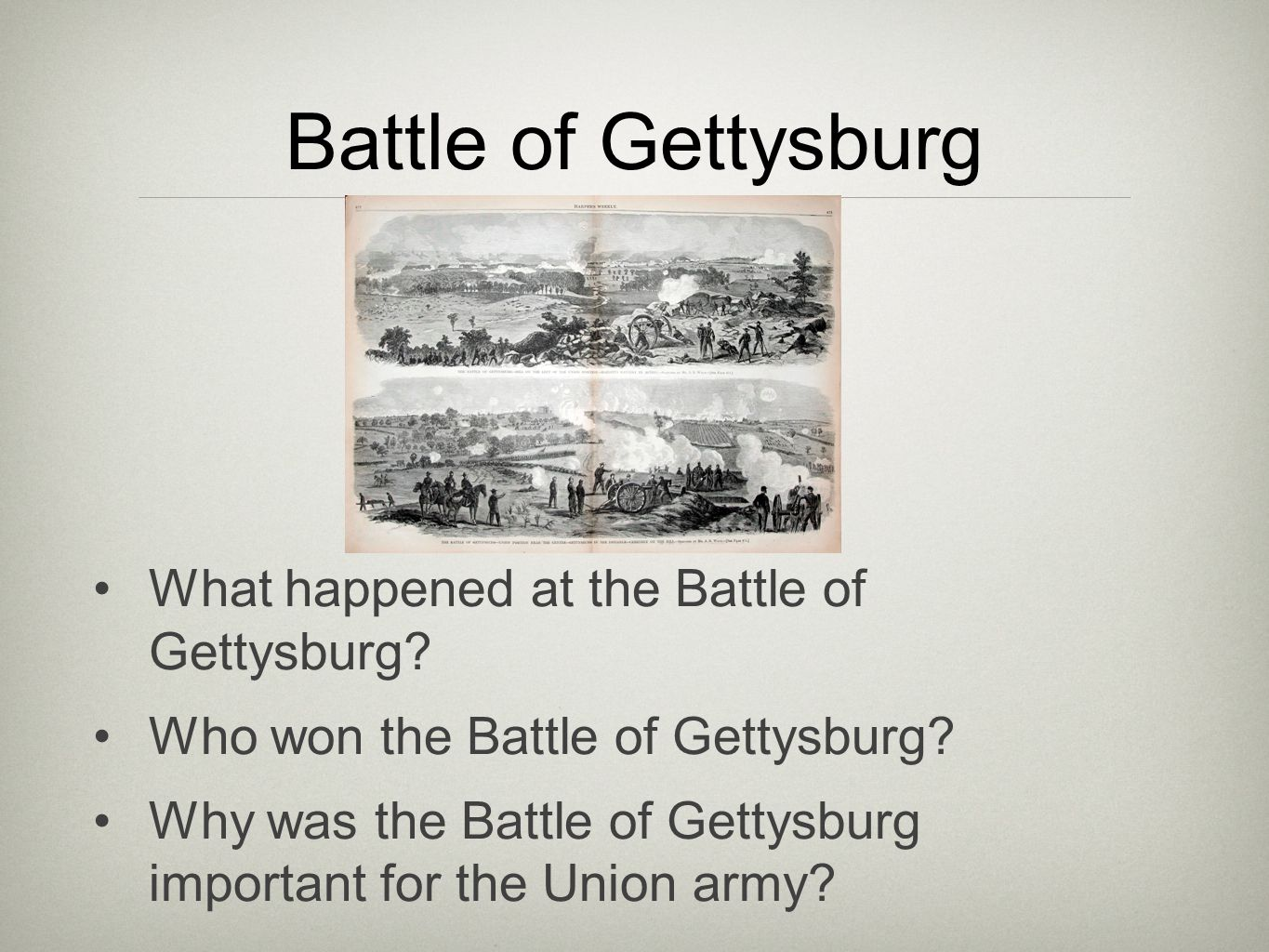 Battle of Gettysburg What happened at the Battle of Gettysburg