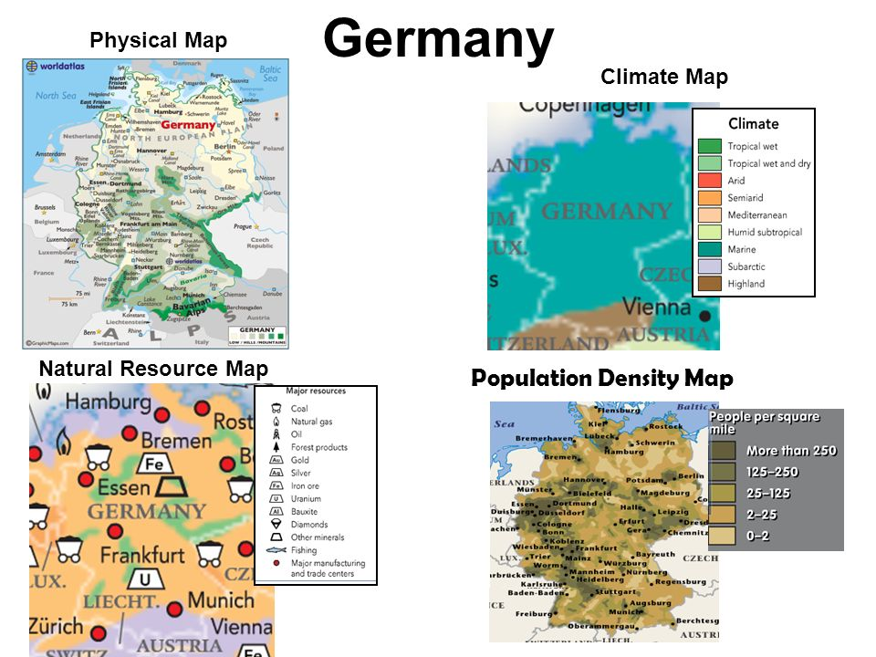 Vocabulary Europes Geography Ppt Video Online Download - Germany physical map