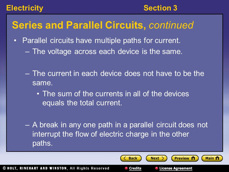 Series and Parallel Circuits, continued