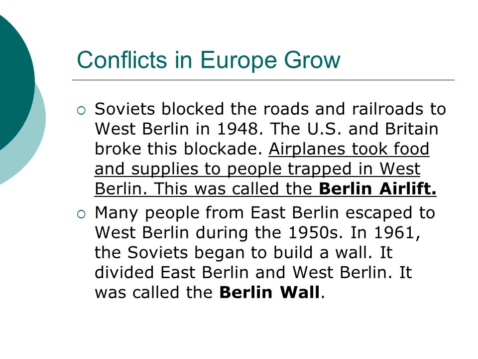 Conflicts in Europe Grow