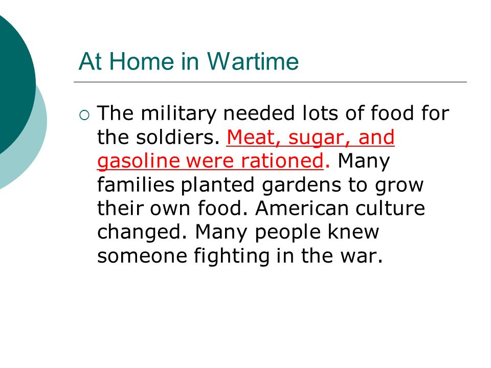 At Home in Wartime