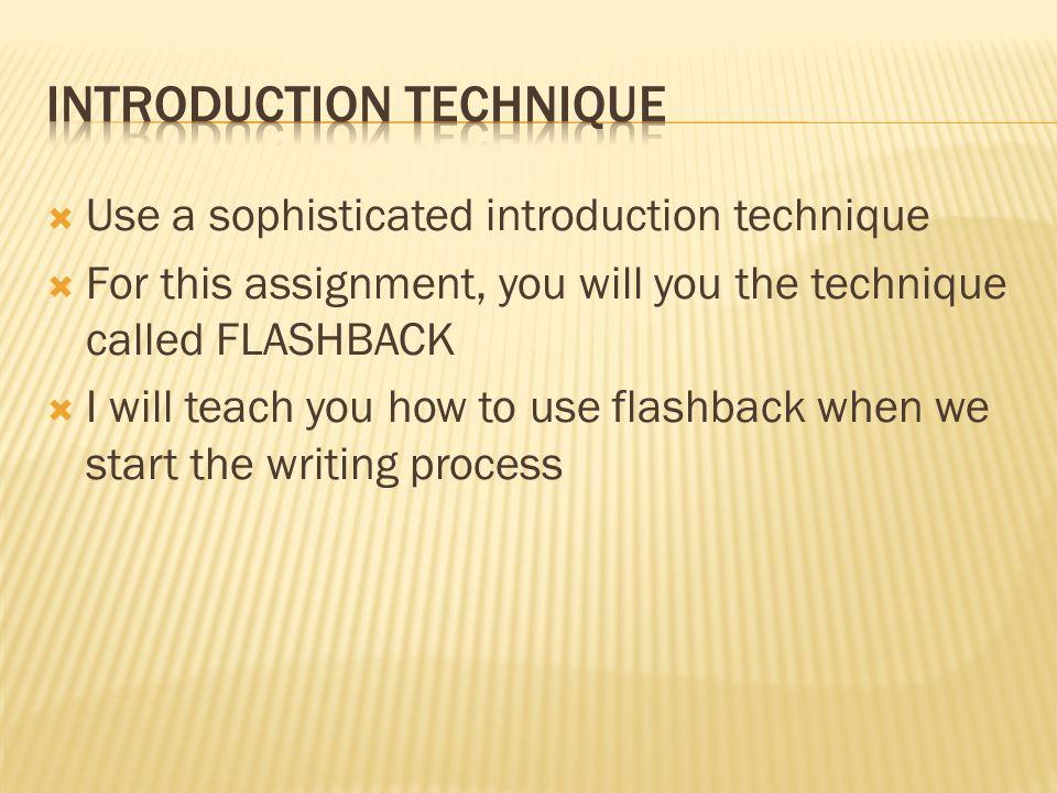 Introduction Technique